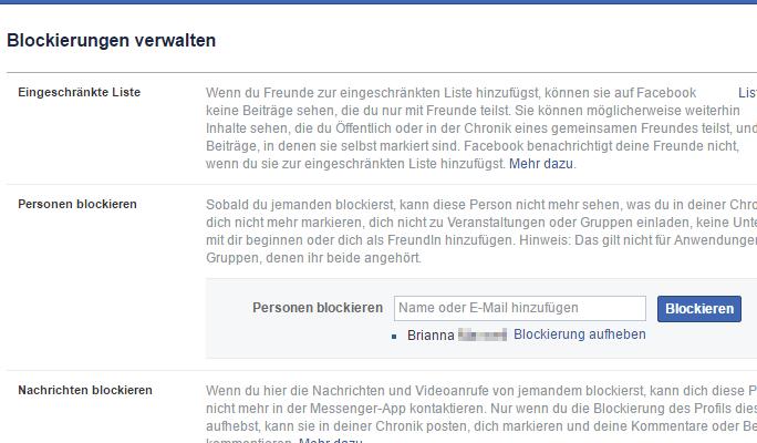 Messenger nachrichten rückgängig facebook ignorieren Facebook Blockierung