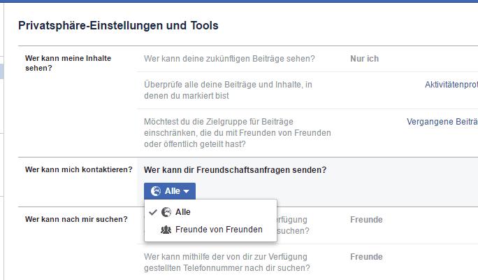 Facebook Freundschaftsanfrage Button Fehlt