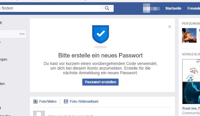Facebook Konto Zurücksetzen