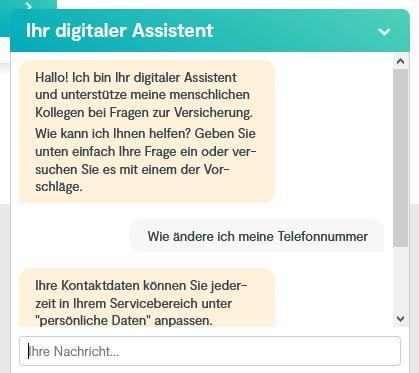 Fragen Sie den digitalen Assistenten eine Frage und er liefert schnell eine passende Antwort.