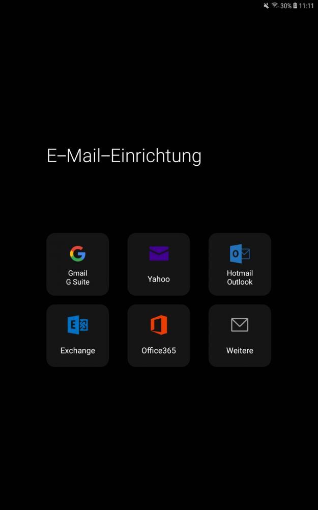 """Schritt 1: Mail App öffnen und """"Weitere"""" auswählen"""