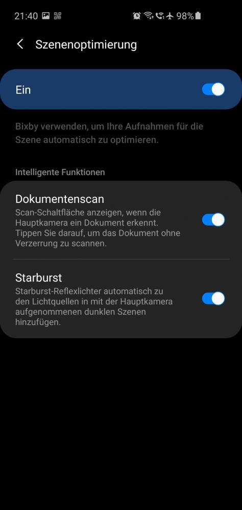 Schritt 1: Kamera App öffnen und die Einstellungen auswählen