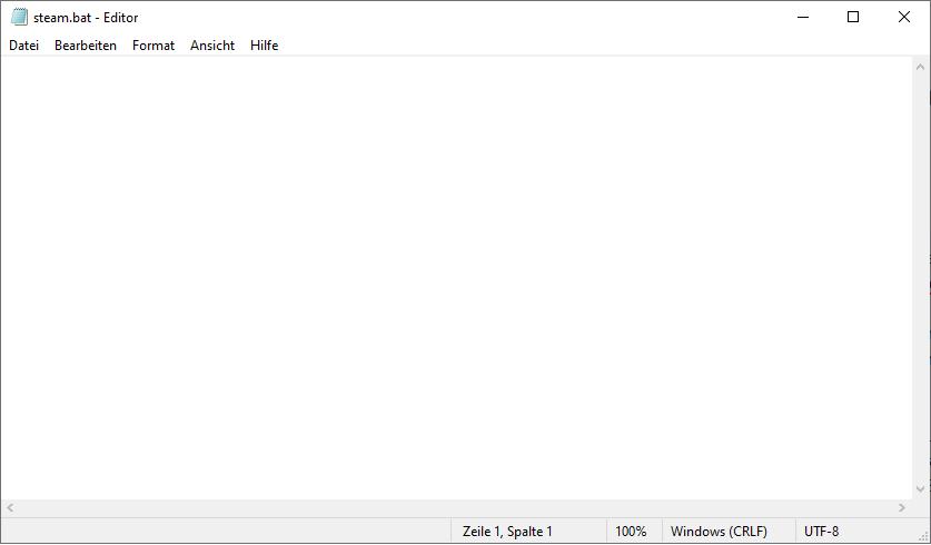 Schritt 1: Ausführbare Batch Datei erstellen
