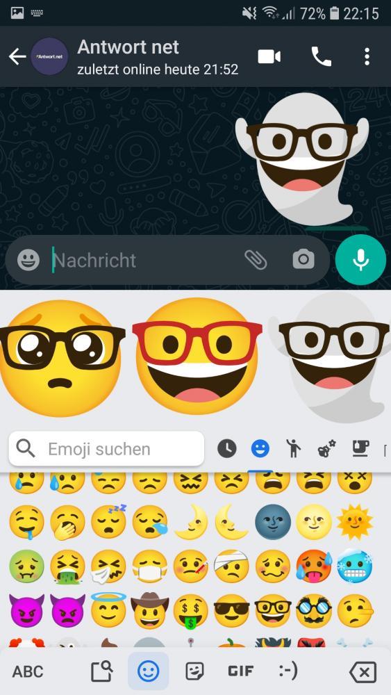 Schritt 4: Emoji Kreation auswählen