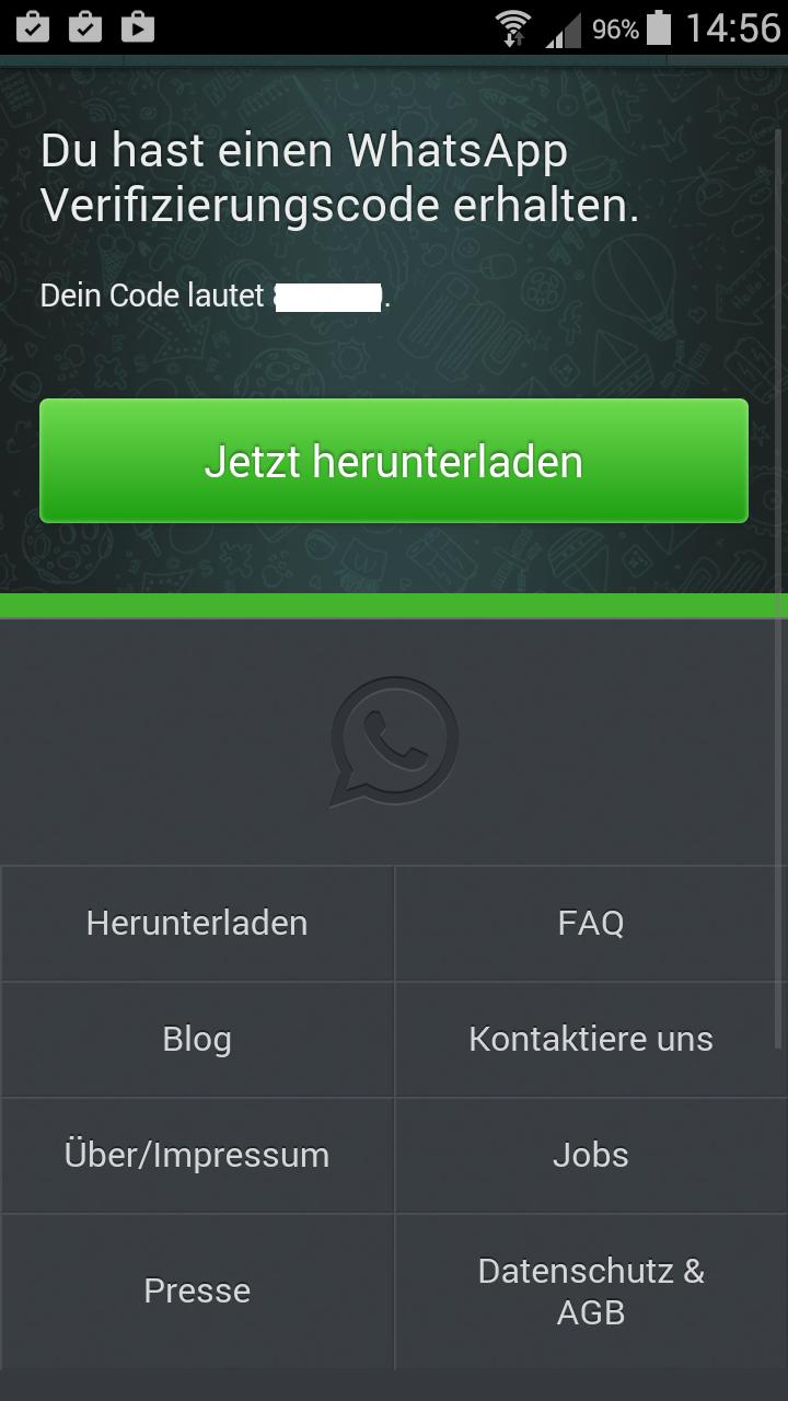 Whatsapp Verifizierung Ohne Sms Und Anruf