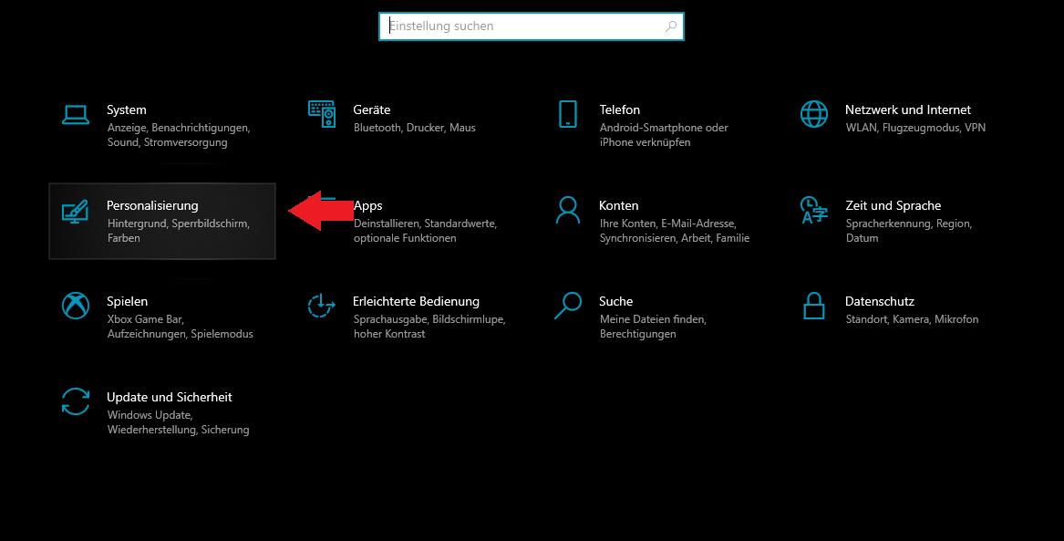 Schritt 2: Windows personalisierung öffnen