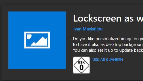 Mit der App könnt ihr die Lockscreen Bilder einfach finden, speichern und als Hintergrundbild verwenden.